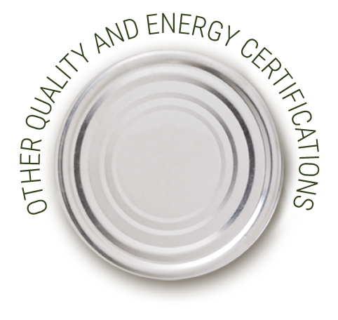 Other quality and energy certifications